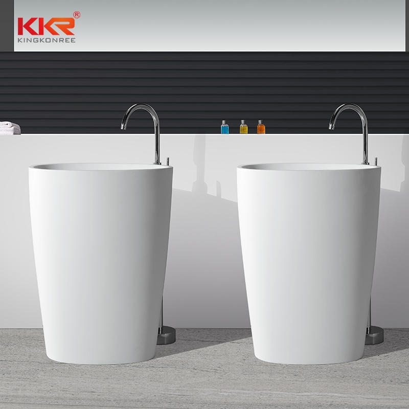 Small Size Acrylic Solid Surface Freestanding Basin KKR-1582