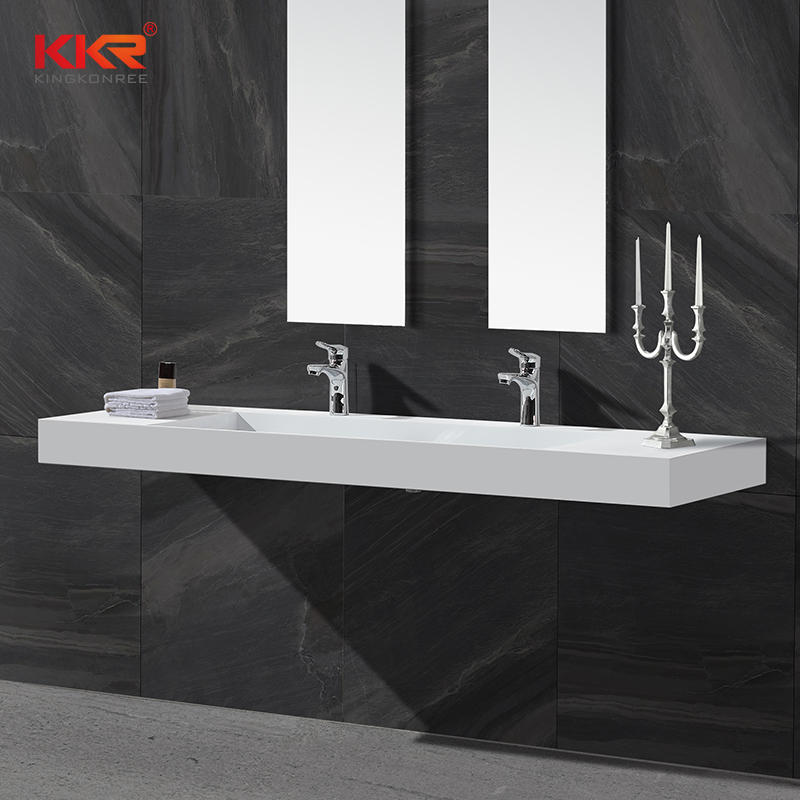 Hot Sales Design White Solid Surface Wall Mounted Washing Basin KKR-1371
