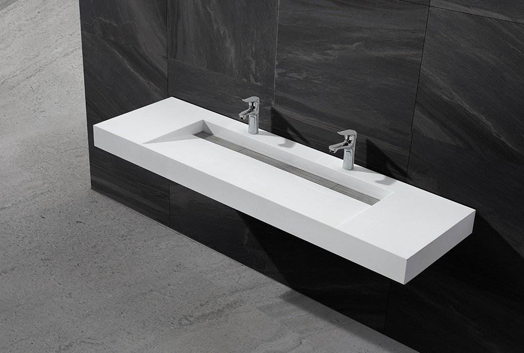artificial wall hung cloakroom basin customized for toilet-1
