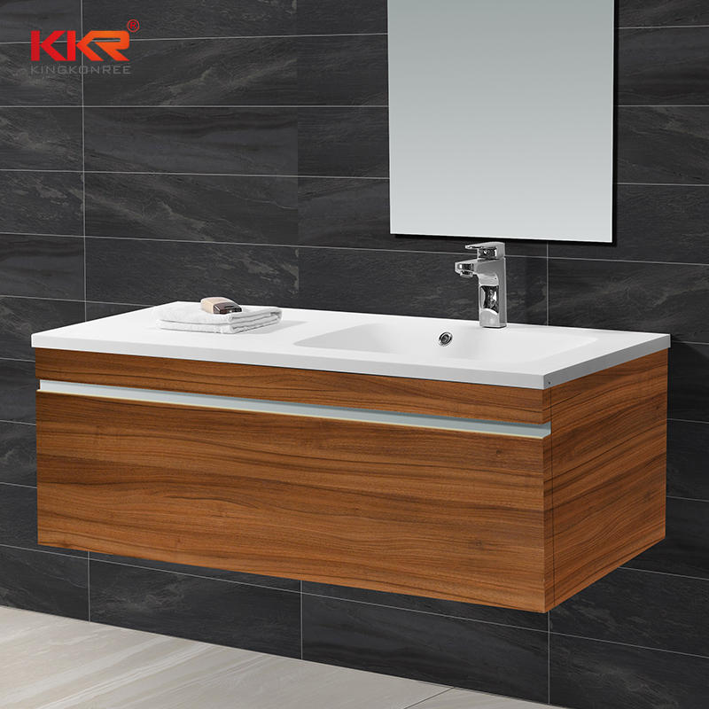 Royal White Acrylic Stone Solid Surface Cabinet Basin KKR-1526