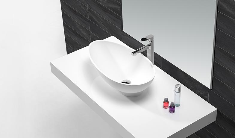 KingKonree black above counter vessel sink design for hotel-1