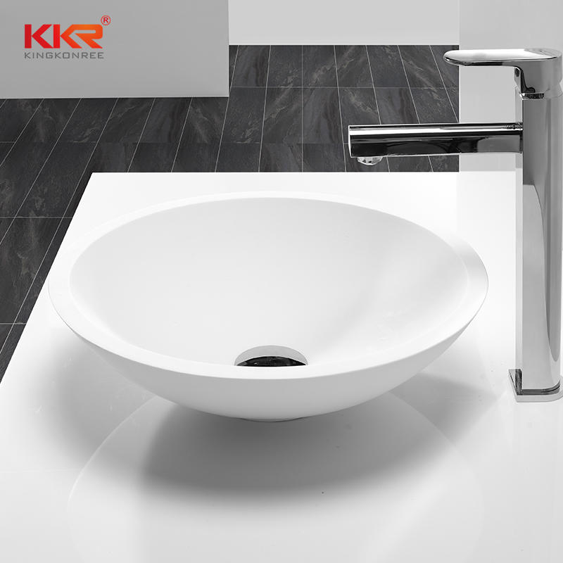 Diameter 405mm Round Solid Surface Coutertop Wash Basin KKR-1516