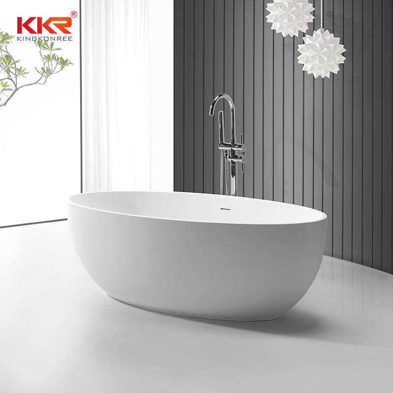 Oval Shape Acrylic Solid Surface Freestanding Bath Tub KKR-B066