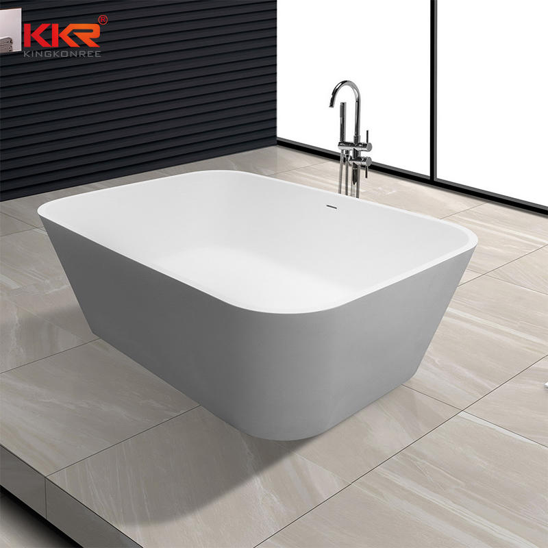 Big Size Acrlic Solid Surface Bath Ware Freestanding Bathtub KKR-B071