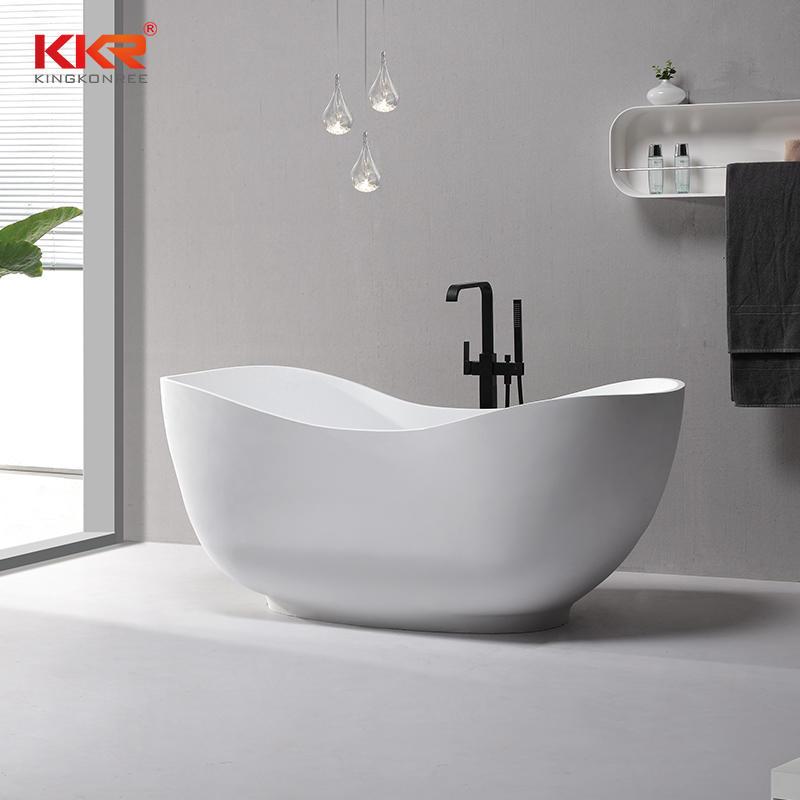 Diseño personalizado de tamaño pequeño bañera de superficie sólida KKR-B073