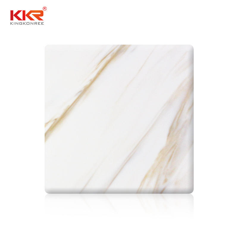 Acrylic Resin Stone Texture Solid Surface Sheet KKR-M8853