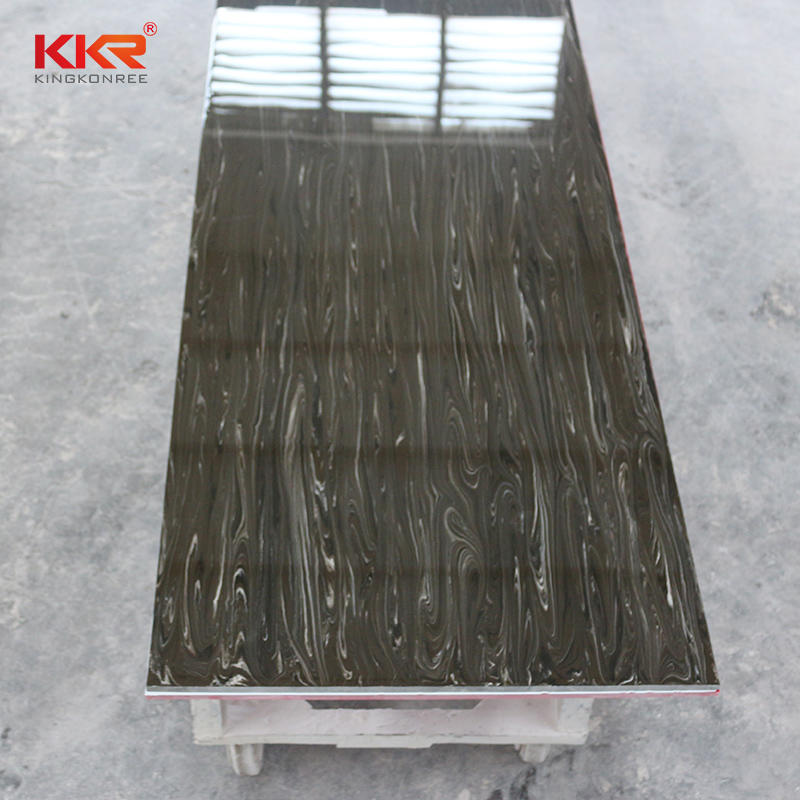 100% Pure Acrylic Solid Surface Sheets With Texture Marble Pattern KKR-M8821