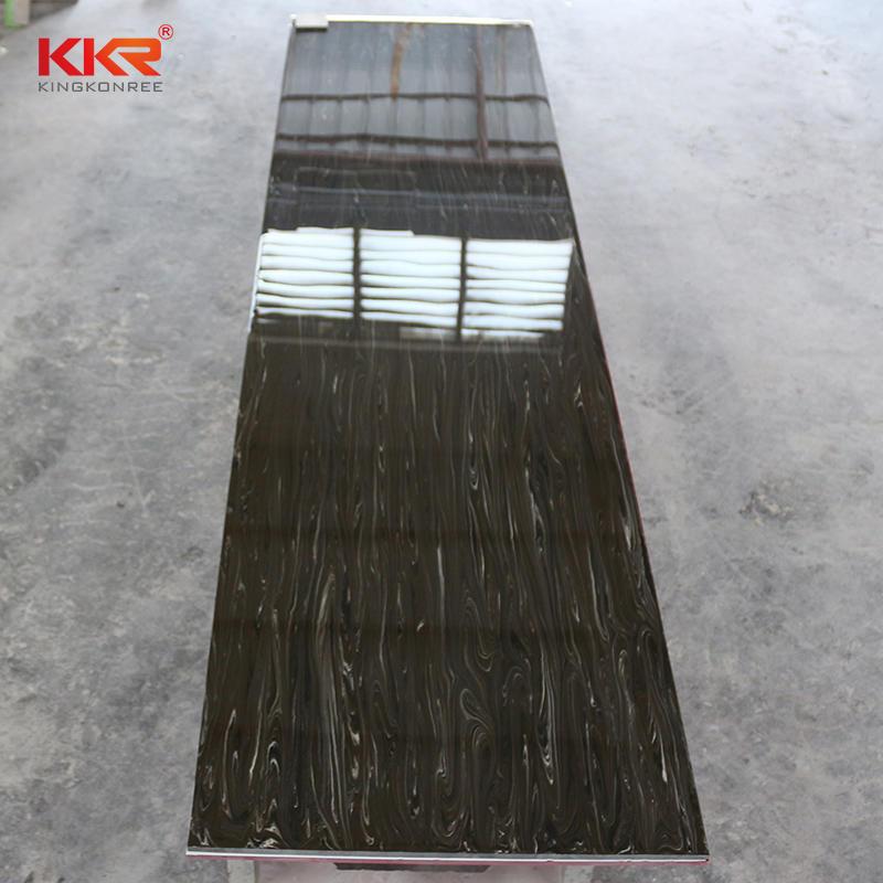 Hojas de superficie sólida de acrílico 100% puro con patrón de mármol de textura KKR-M8821