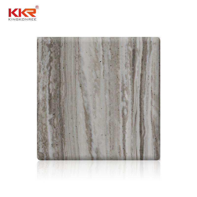 Hojas de superficie sólida acrílica con patrón de mármol de Texute KKR-M8851