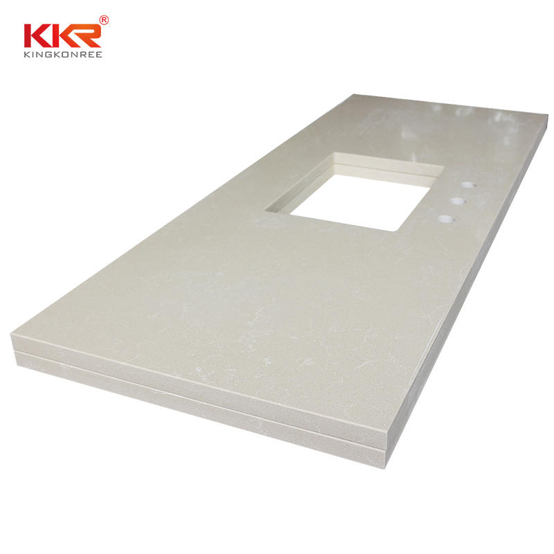 Artificial Marble Quartz Stone Bathroom Vanity Top KKR-VT01