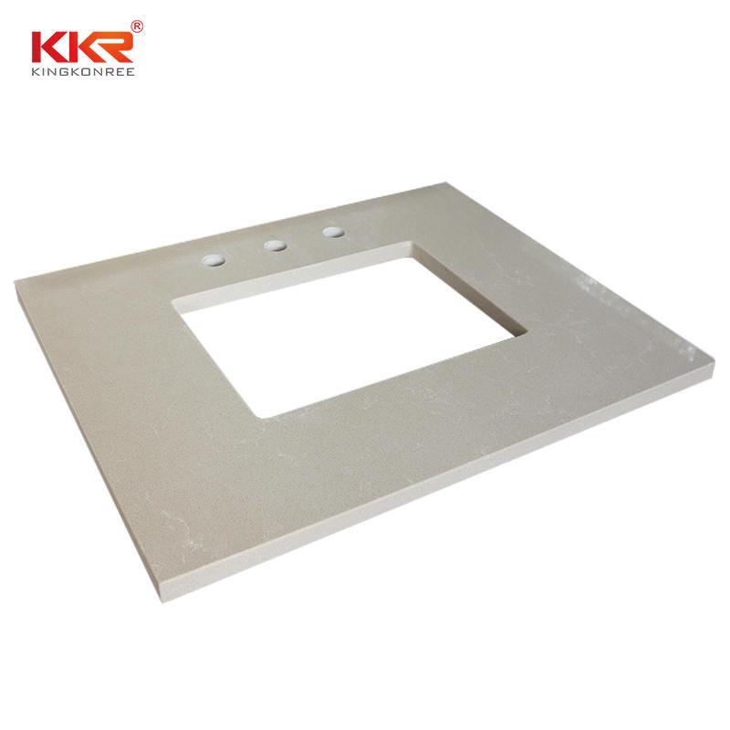 Artificial Marble Quartz Stone Bathroom Vanity Top KKR-VT01