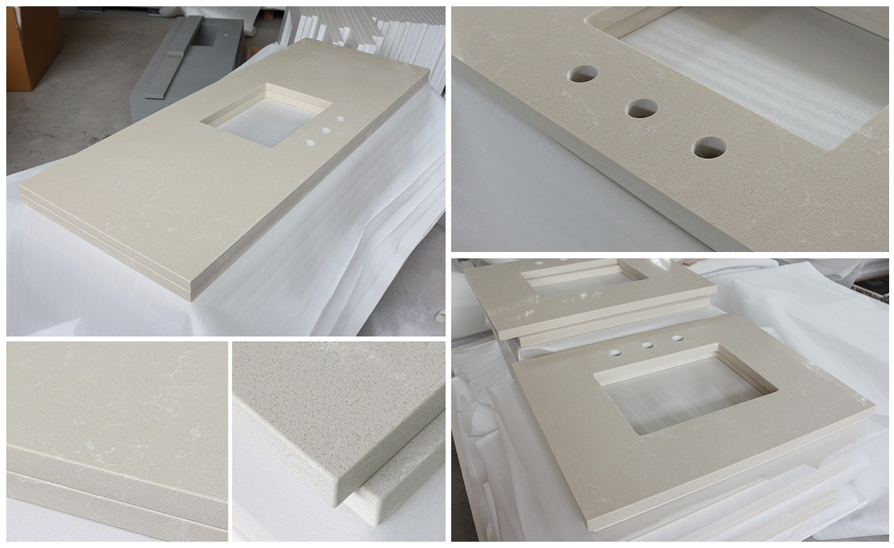 KingKonree artificial custom vanity tops sink for motel-1