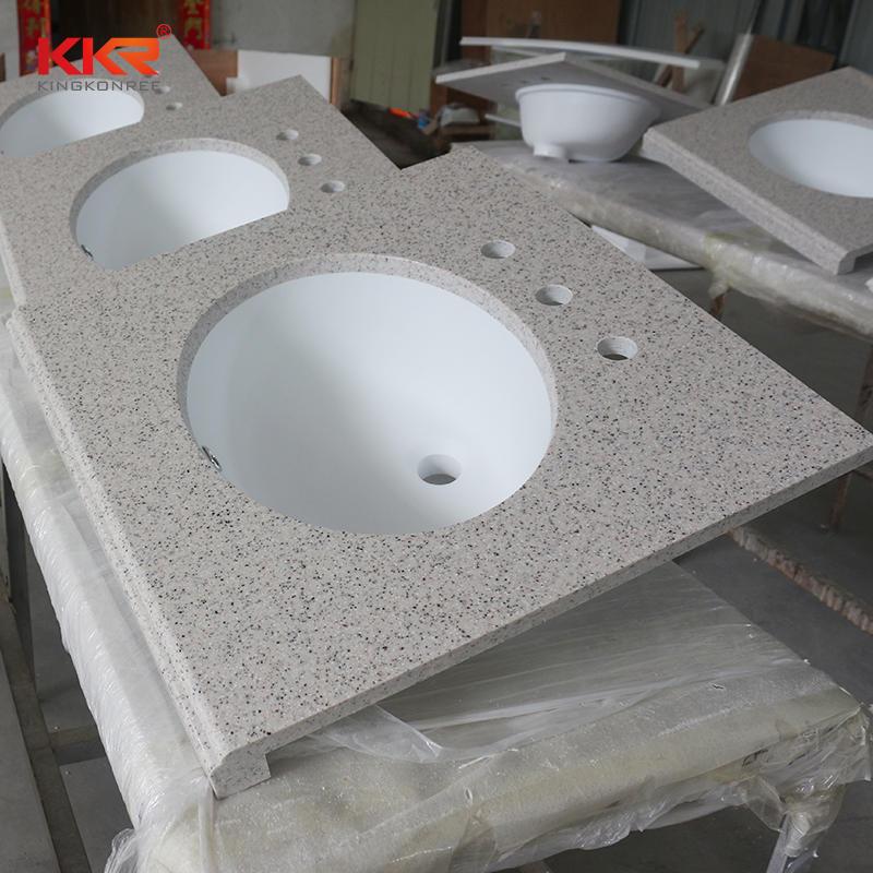 Tocador de baño integrado de superficie sólida de acrílico KKR-VT002