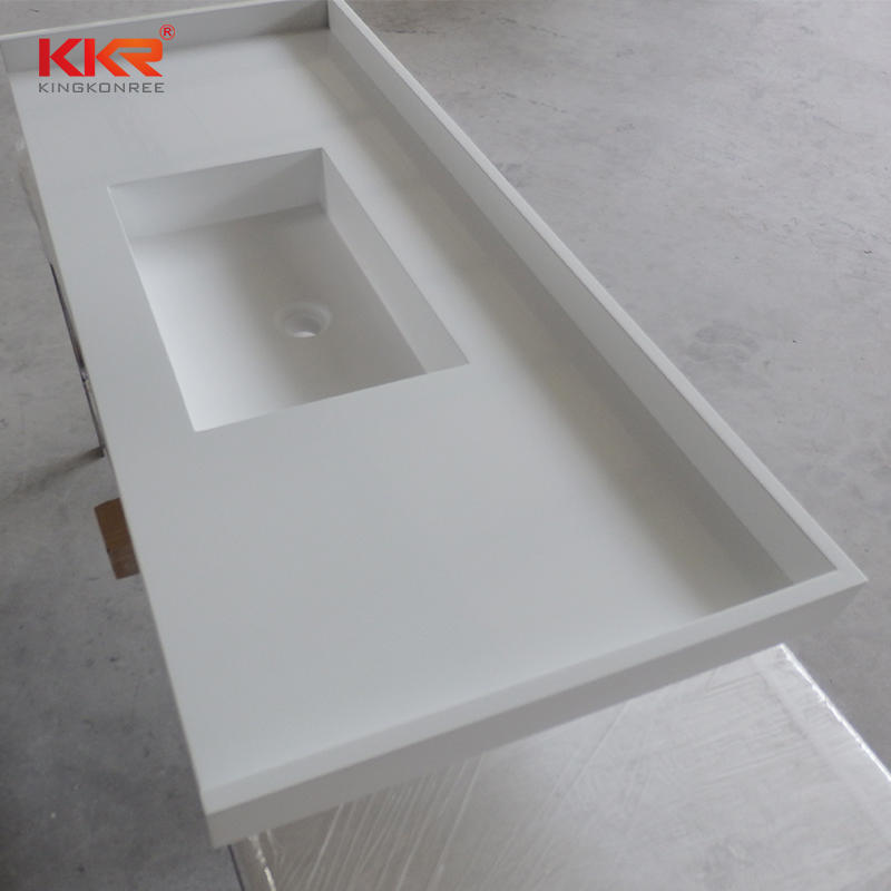 Royal White Acrylic Soid Surface Vanity Tops KKR-VT03