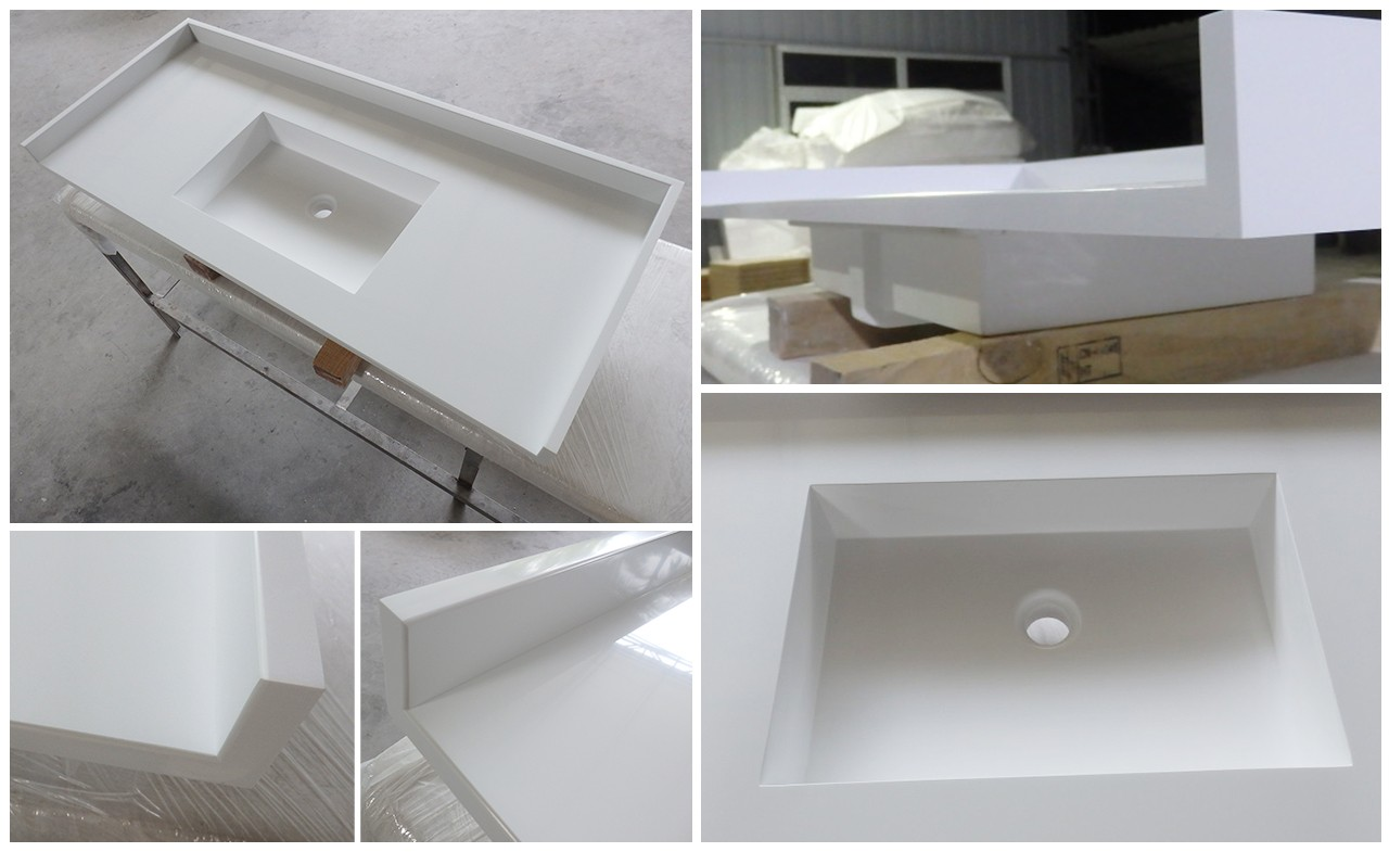 KingKonree quartz stone custom vanity tops sink for motel-1