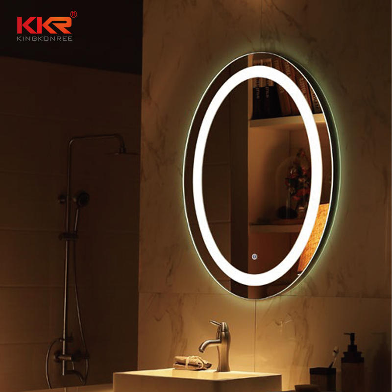 Good Quality Round Shape Bathroom Mirror With Led Light Match For High-end Design KKR-8011