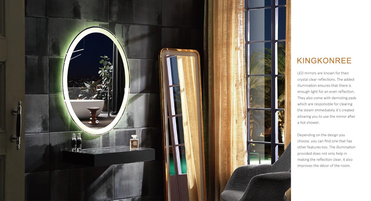 KingKonree led light washroom mirrors high-end for toilet-1