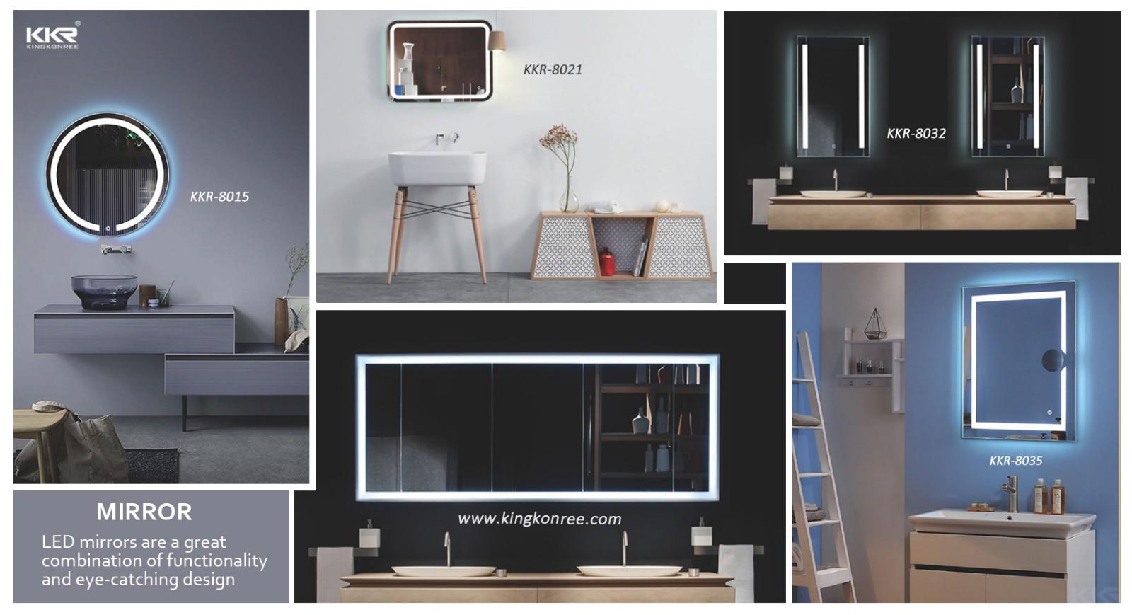 KingKonree led light washroom mirrors high-end for toilet-2