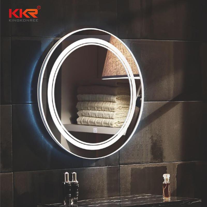 Espejo redondo de baño sanitario Defogg con forma redonda KKR-8013