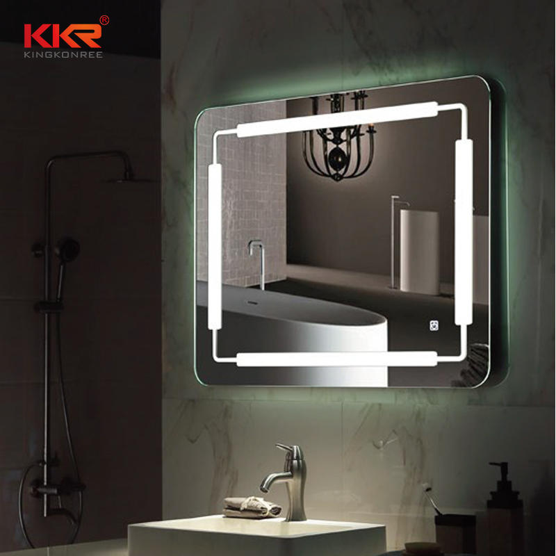 High-end Solid Surface Articial Stone Bathroom Mirror KKR-8019