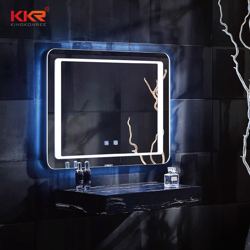 Espejo LED de baño de piedra artificial Defog KKR-8020
