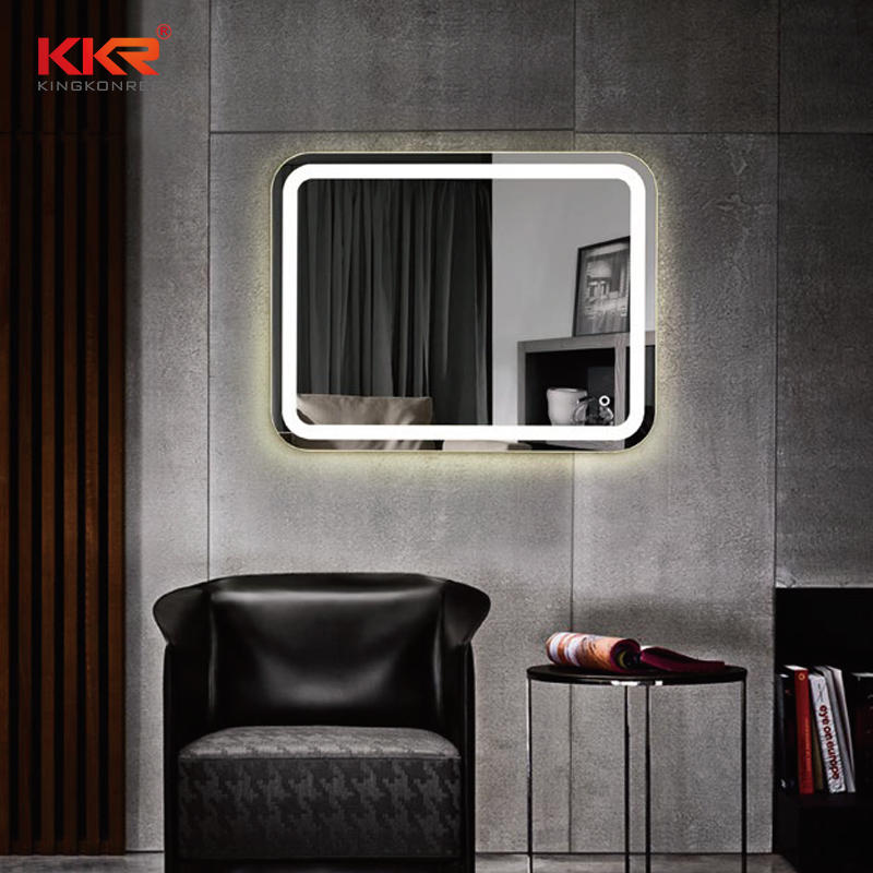 Round Corner Beauty Design LED Mirror KKR-8021