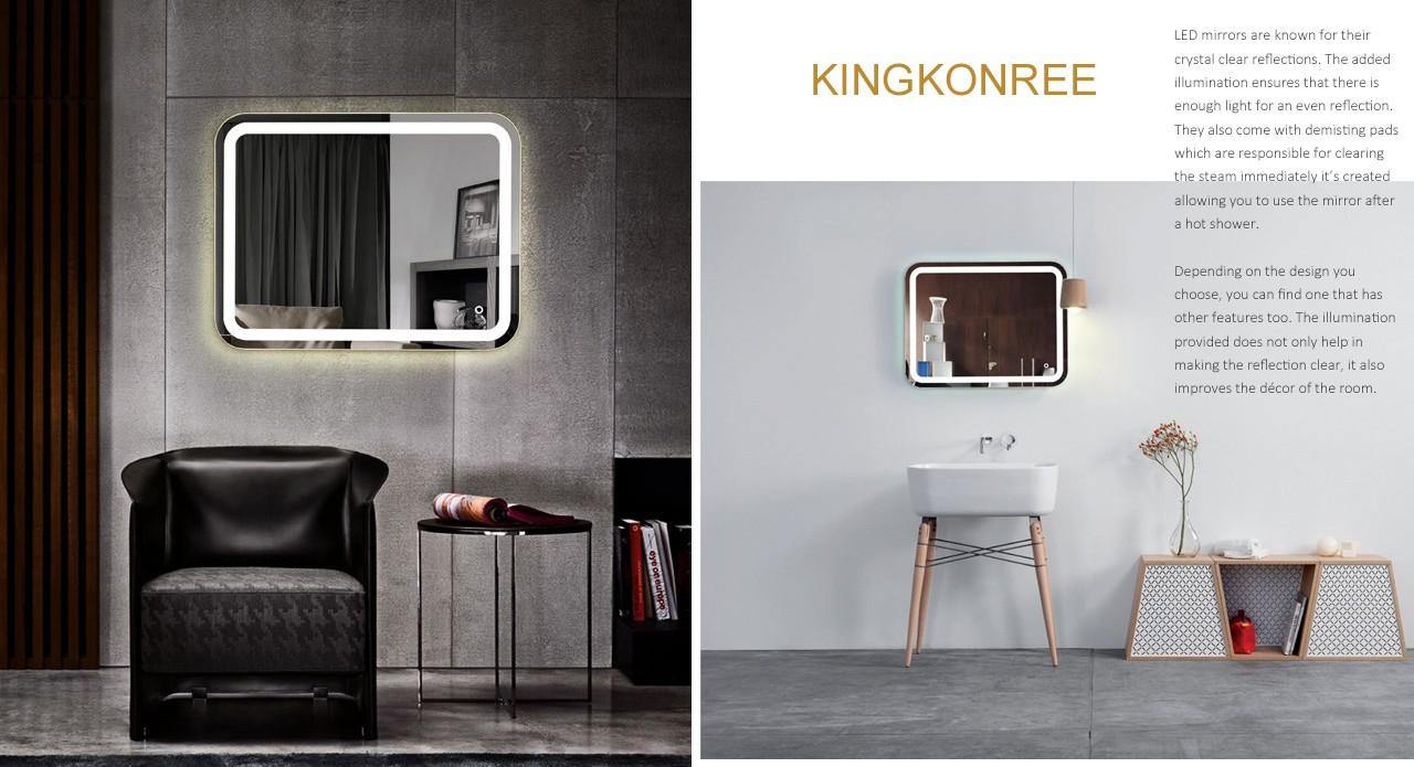 KingKonree small decorative mirrors customized design for bathroom-1
