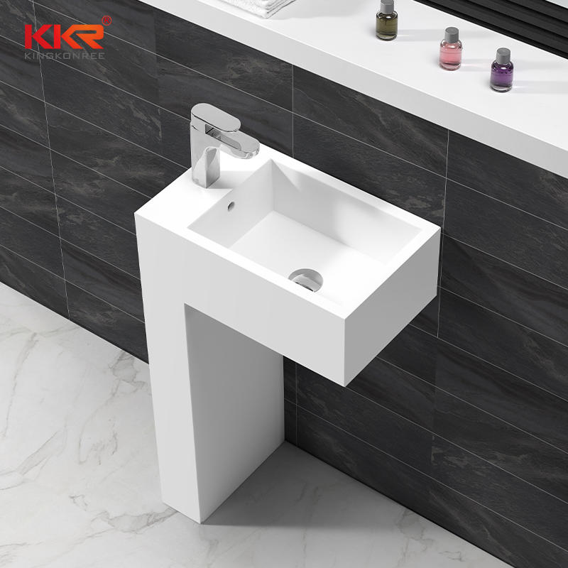 Unique Design Acrylic Solid Surface Bathroom Sanitary Freestanding Basin KKR-1583