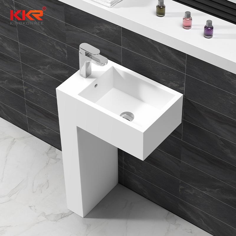 Diseño único Acrílico Superficie sólida Baño Sanitario Independiente Lavabo KKR-1583