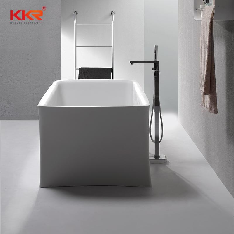 Unique Shape Solid Surface Bathroom Bath Tub KKR-B086