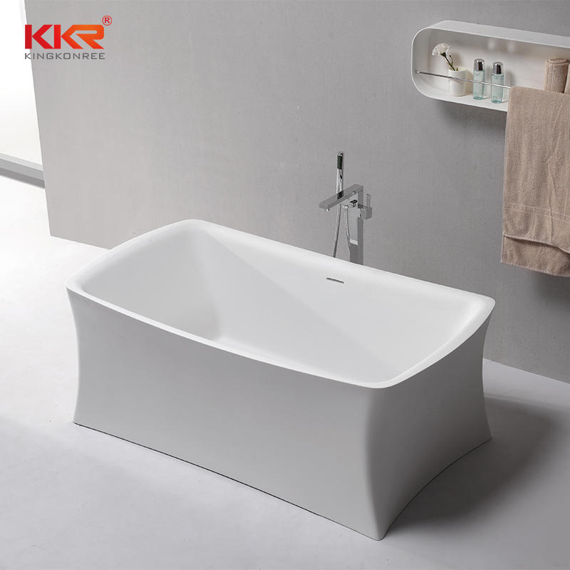 Unique Shape Solid Surface Bathroom Bath Tub KKR-B086