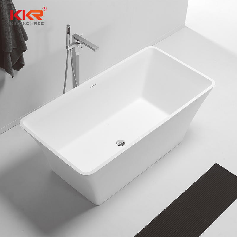 1500mm Or 1700mm Length Good Quality Soild Surface Freestanding Bathtub KKR-B074