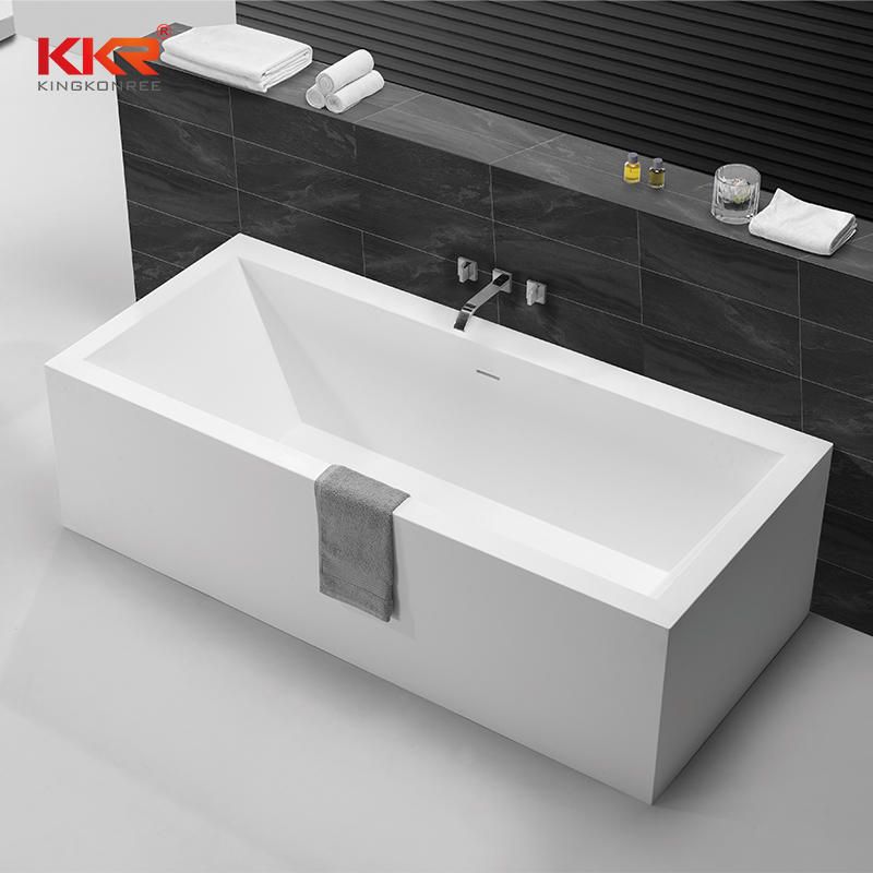 Rectangle Soild Surface Bathtub Against The Wall KKR-B060