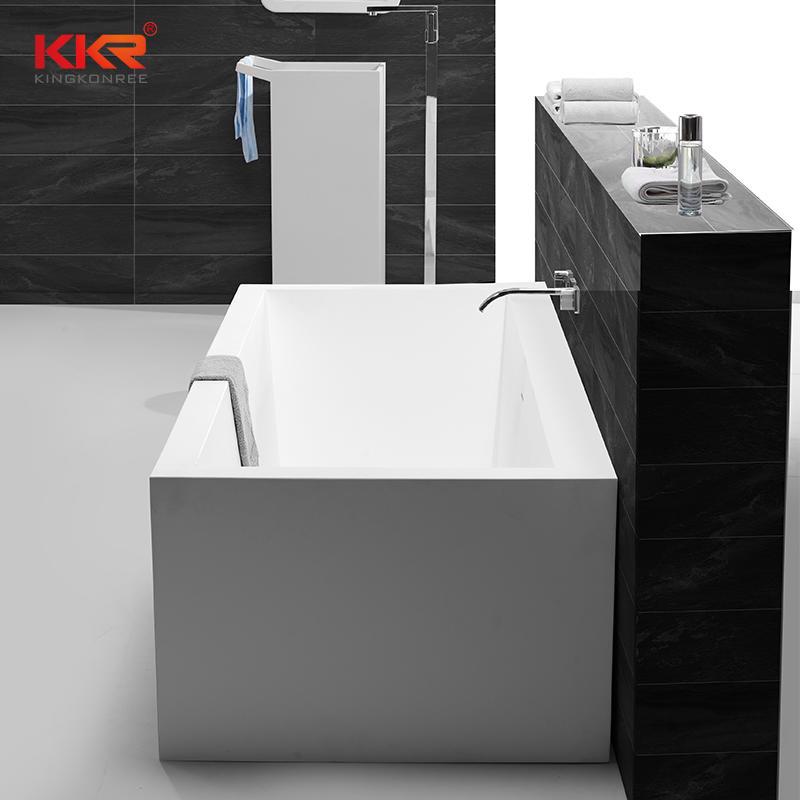 Rectangle Soild Surface Bathtub Against The Wall KKR-B060