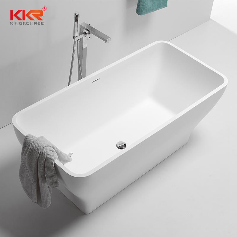 1500MM Length Small Size Acrylic Stone Solid Surface Bathtub KKR-B075