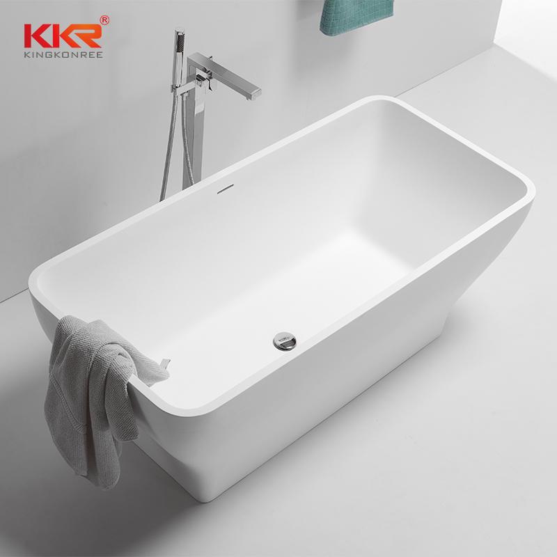 1500MM Length Small Size Acrylic Stone Solid Surface Bathtub KKR-B075