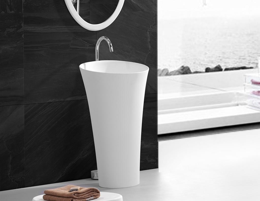 high-quality solid surface basin best material for bathroom KingKonree