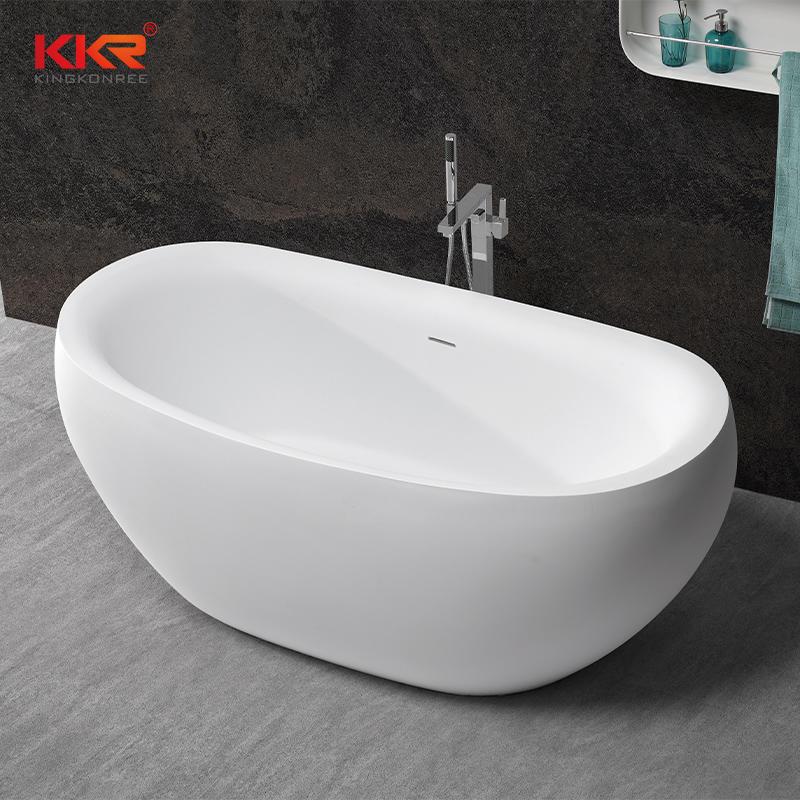 Bañera independiente de piedra acrílica de superficie sólida recientemente desarrollada KKR-B077