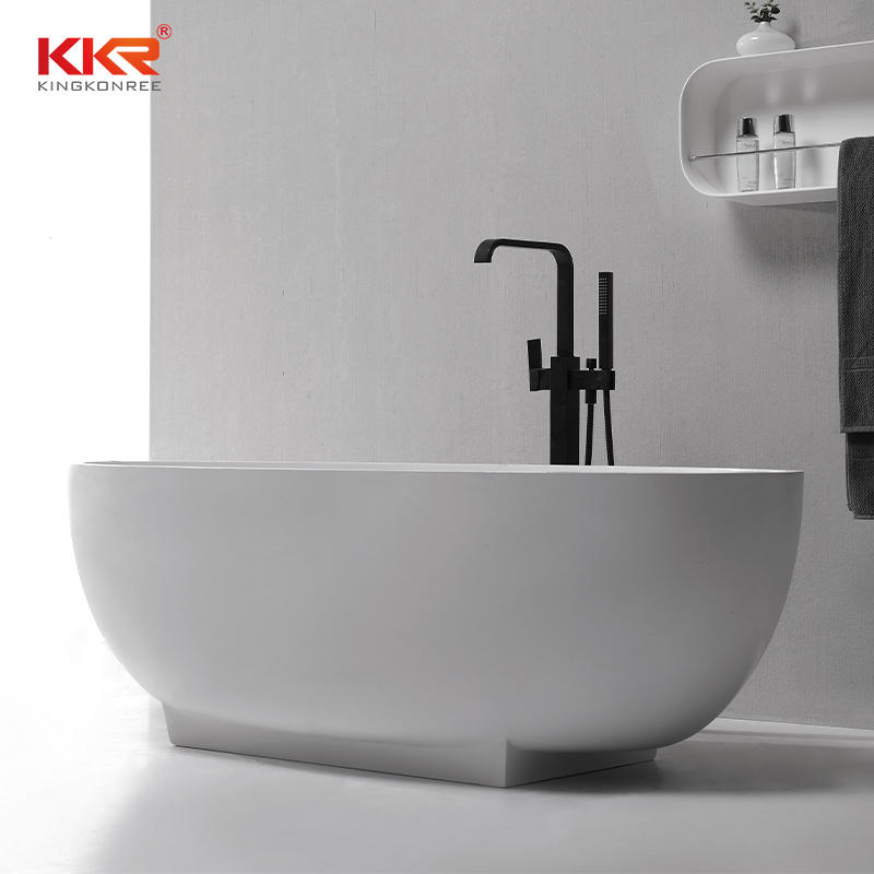 Easy maintenance Matt Finished Acrylic Solid Surface Freestanding Bath Tub KKR-B078