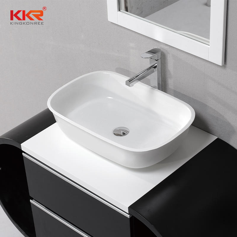 600mm Length Acrylic Solid Surface Above Counter Basin KKR-1053