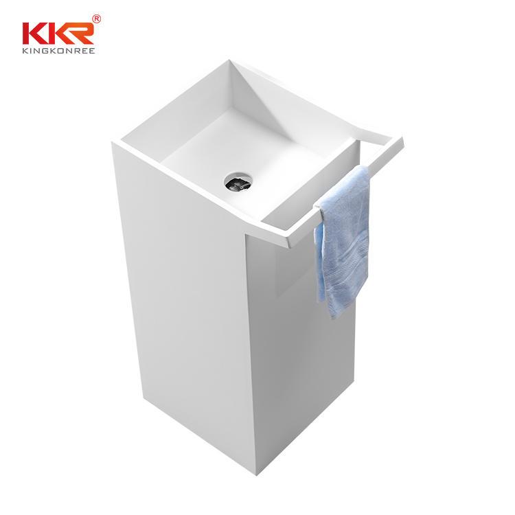 Lavabo de lavado independiente con colgador de toallas KKR-1591