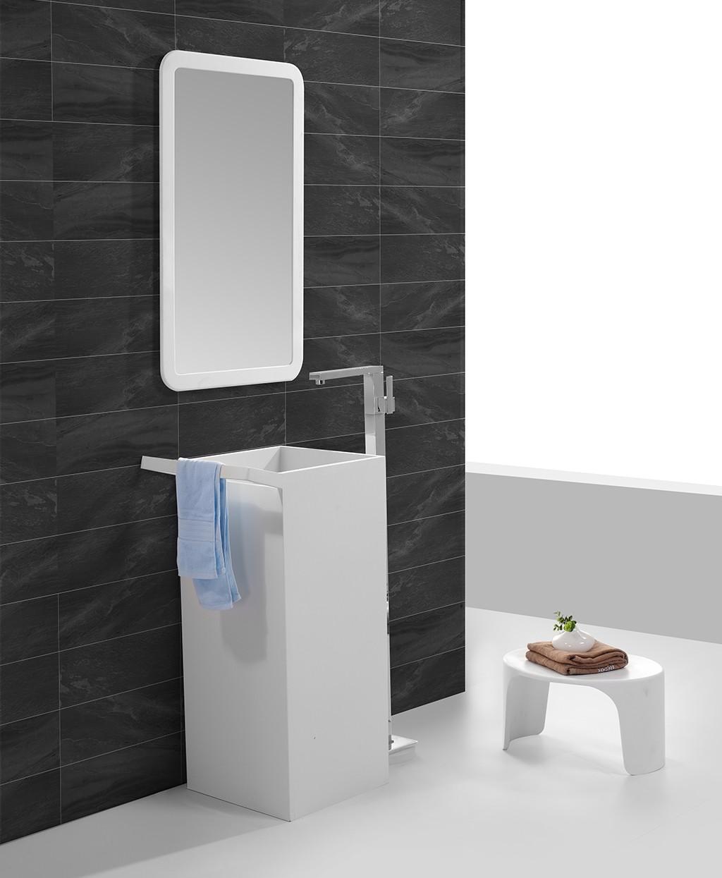 KingKonree solid stand alone bathroom sink manufacturer for hotel-1