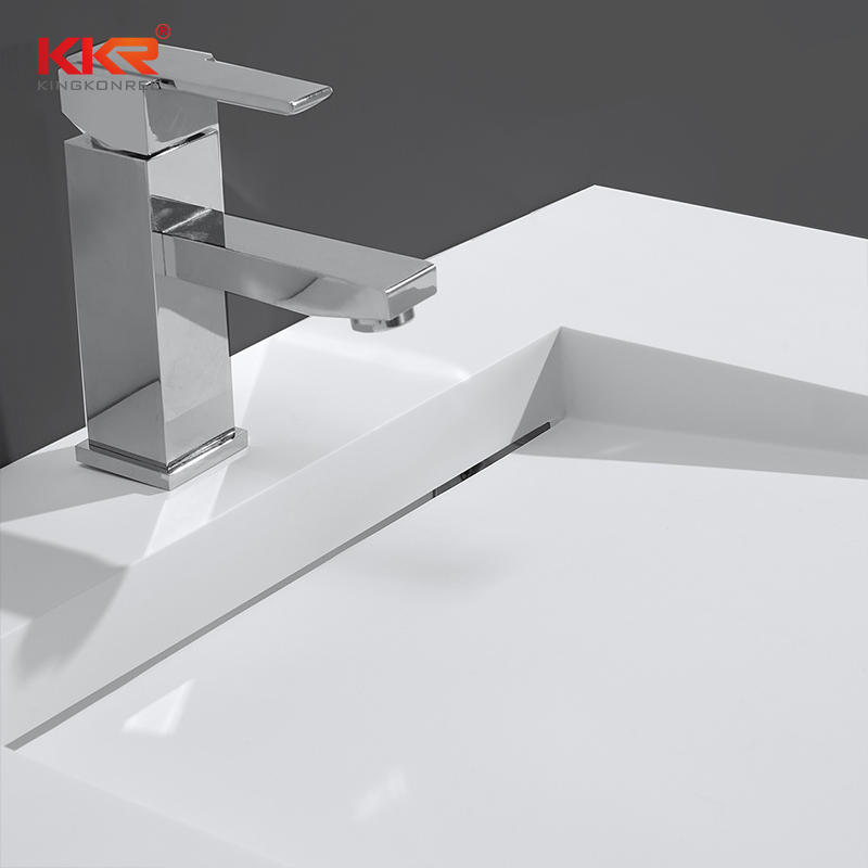 Hot Sales Europe Design Small Slope White Acrylic Solid Surface Wall Hung Basin KKR-1338