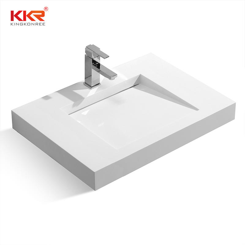 Ventas calientes Diseño de Europa Pequeña pendiente Acrílico blanco Superficie sólida Colgador de pared KKR-1338
