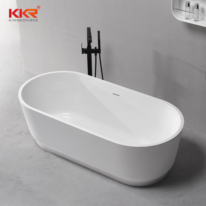 Freestyle Solid Surface Acrylic Resin Stone Freestanding Bath Tub KKR-B079