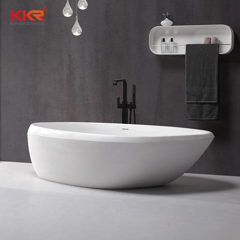Unique Design Solid Surface Acrylic Stone Freestanding Bathtub KKR-B081