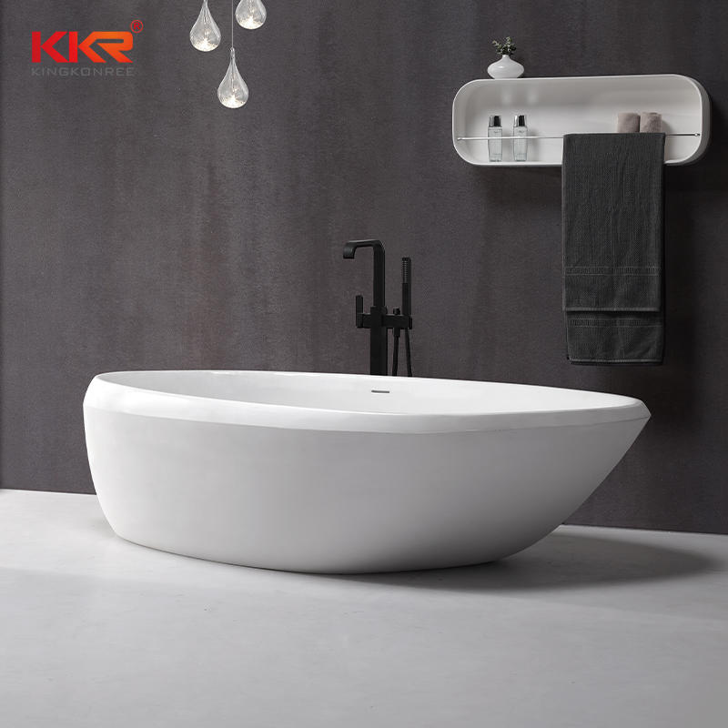 Unique Design Solid Surface Acrylic Stone Freestanding Bathtub KKR-B081