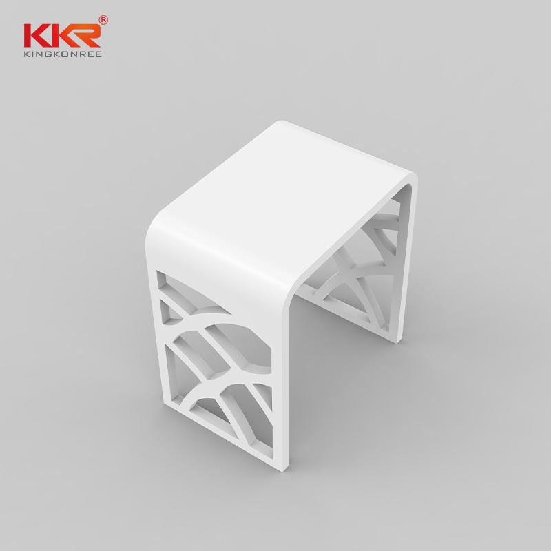 Taburete de baño de superficie sólida acrílica de mármol blanco de nuevo diseño Taburete M