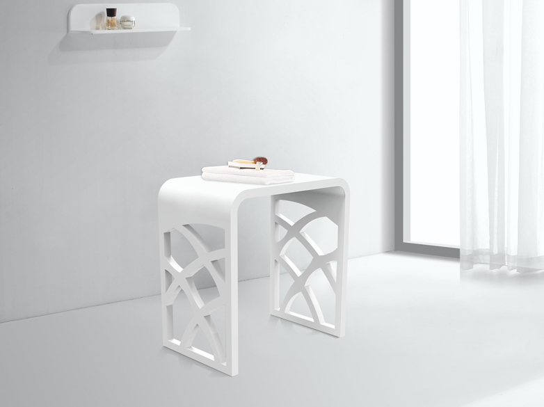 white small bathroom stool customized for room-1