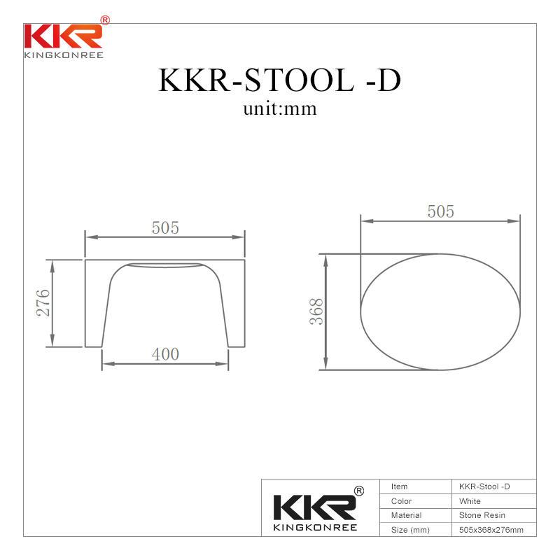 Small Size Bathroom Furniture Solid Surface Bath Stool KKR-Stool -D